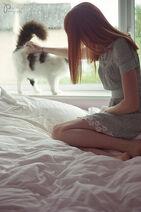 Beautiful,cat,ginger,girl,red,hair,redhead-97b4ea43b5c7f3c910dd623eb8c405f9 h
