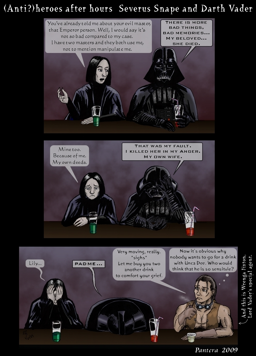 Snape and Vader comic by The Black Panther