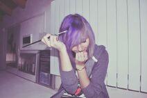 Purple hair by spastikpandina-d4m43et