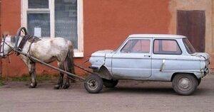Horse-pulling-car