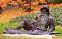 Irvington statue of Rip van Winkle