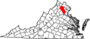180px-Map of Virginia highlighting Fauquier County svg