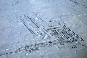Denver International Airport, snow
