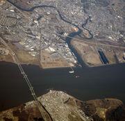 Delaware Memorial Bridge aerial 2012