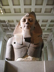 BM, AES Egyptian Sulpture ~ Colossal bust of Ramesses II, the 'Younger Memnon' (1250 BC) (Room 4)