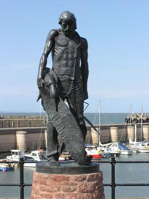 Ancient mariner statue