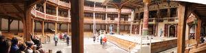 The Globe Theatre, Panorama Innenraum, London