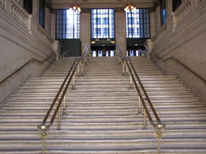Stairs leading out of main hall, Chicago Union Station