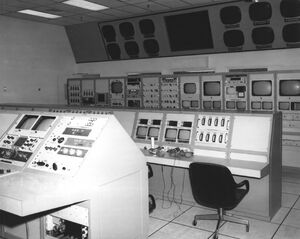 Neutral Buoyancy Simulator control room