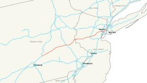 Interstate 78 map