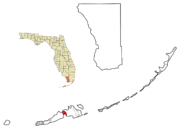 Monroe County Florida Incorporated and Unincorporated areas Cudjoe Key Highlighted