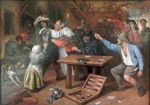 Jan Steen (10)Kartenspiel Streit