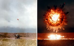 UGM-109 hits target on San Clemente Island 1986