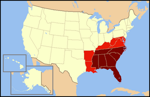 US map-South East