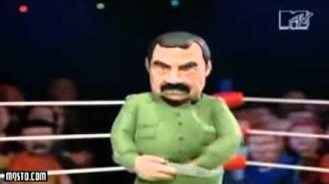 Celebrity Deathmatch James Van Der Beek vs Saddam Hussein