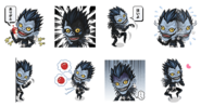 LINE stickers Ryuk transparent