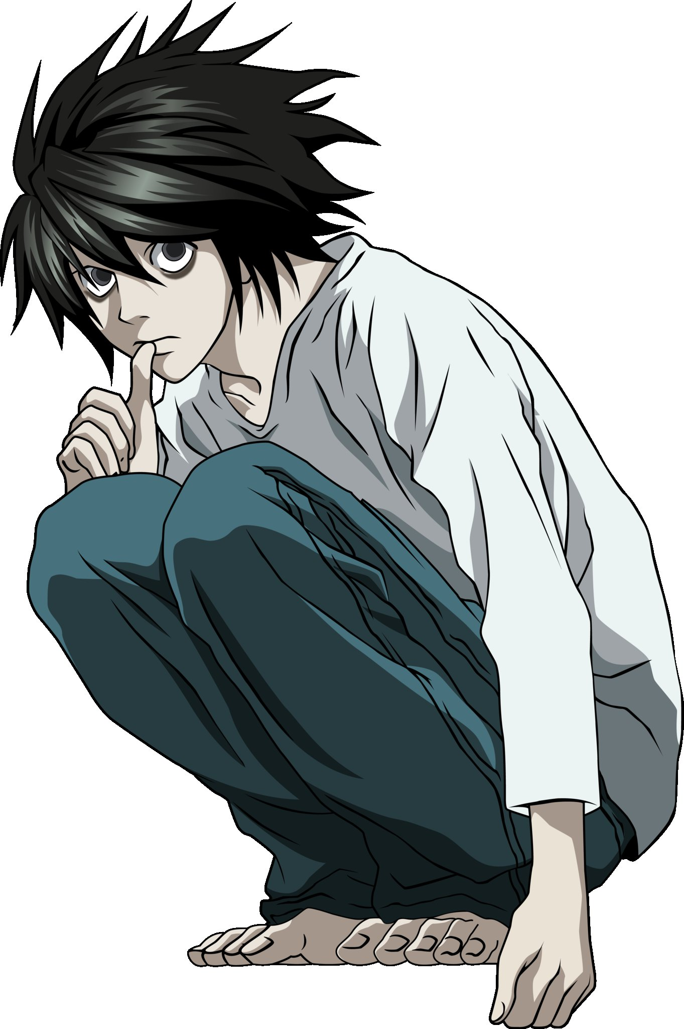 Chibi L from Death Note | Anime | Pinterest | Death note, Chibi ...