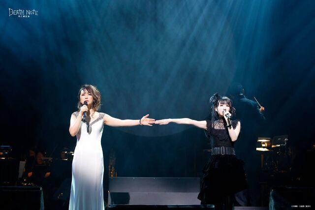 File:Musical 2017 Concert Megumi Hamada (Rem) and Fuka Yuzuki (Misa) 2.jpg