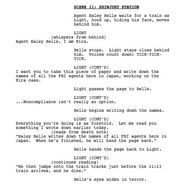 Musical script screenshot of Light and Haley Belle