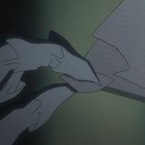 Pedazo de una hoja de la Death Note