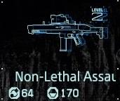 Non-lethal assault rifle Lv2 fab menu