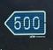 Left 500m Sign