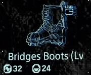 Bridges boots Lv3 fab menu