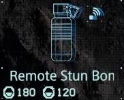Remote stun bomb fab menu