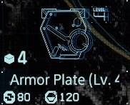 Armor plate Lv4 fab menu
