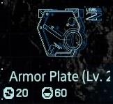 Armor plate Lv2 fab menu
