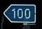 Left 100m Sign
