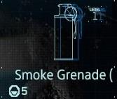 Smoke grenade Lv1 fab menu