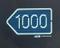 Left 1000m Sign
