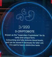 D-Cryptobiote menu