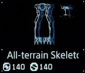 All-terrain skeleton Lv1 fab menu