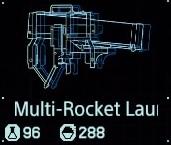 Multi-rocket launcher fab menu