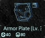 Armor plate Lv3 fab menu