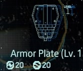 Armor plate Lv1 fab menu