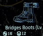 Bridges boots Lv2 fab menu