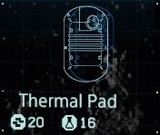 Thermal pad fab menu