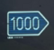 Right 1000m Sign