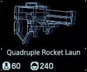 Quadruple rocket launcher fab menu