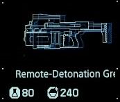 Remote detonation grenade launcher fab menu
