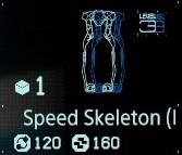 Speed skeleton Lv3 fab menu