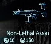 Non-lethal assault rifle Lv1 fab menu