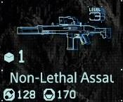 Non-lethal assault rifle Lv3 fab menu