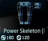 Power skeleton Lv2 fab menu