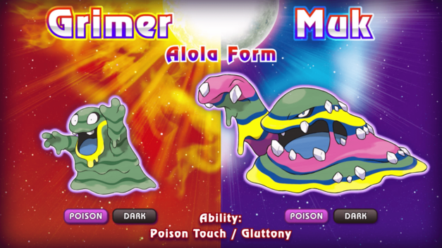 Pokemon Sun and Moon New Pokemon Monsters Alola Grimer Muck