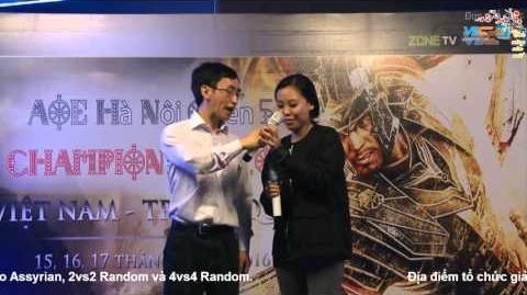 Lễ trao giải AOE Hà Nội Open 5 Championship 2016