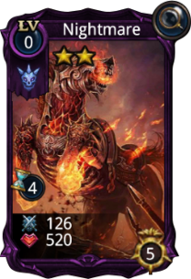 Nightmare creature card